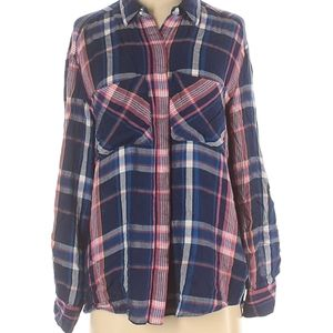 EXPRESS LONG SLEEVE FLANNEL BUTTON DOWN